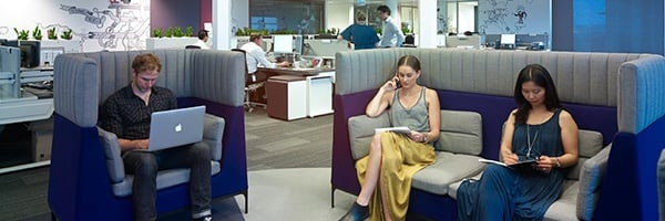 Open areas for individual or group collaboration. Lion Office by PCG.