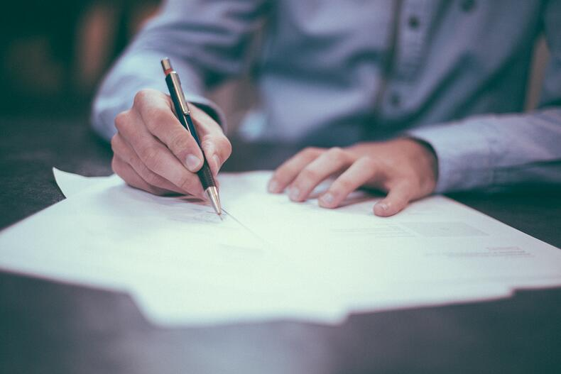 Signing Contract Securing Office Lease